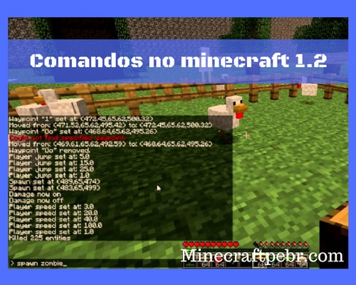 Comandos para minecraft 1.2
